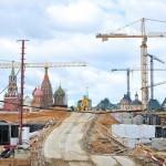 Строительство главного ландшафтного парка Москвы идет полным ходом