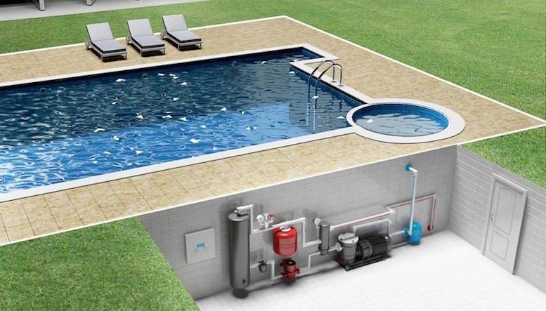Как устроить подогрев воды в бассейне